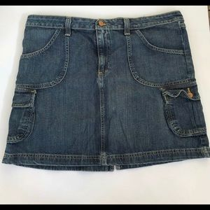 Old Navy Blue Jean Skirt Women's 16